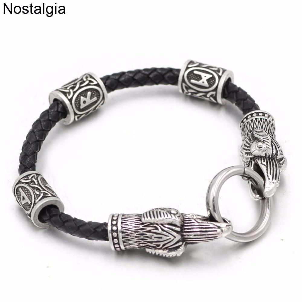 Nostalgia-Odins-Raven-Leather-Viking-Bracelet-Accesorios-Vikingos-Scandinavian-Runic-Personalized-Rune-Bead-Custom-Norse-Jewelry (1)