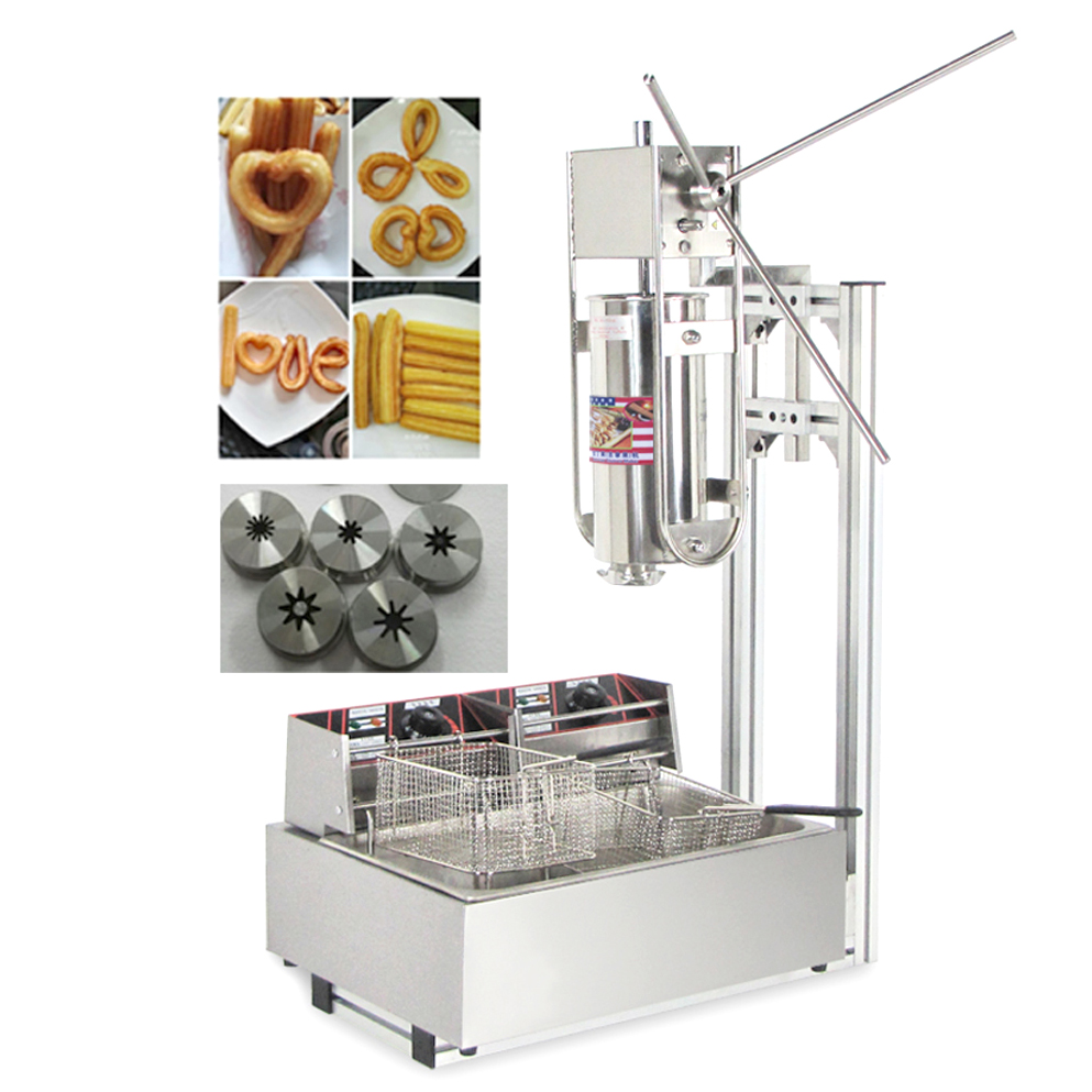 Manual Churros Machine Capacity 5L Commercial Stainless Steel Churro Making Machine without Deep Fryer free shipping commercial manual spanish 6l gas fryer churro churrera fryer maker machine