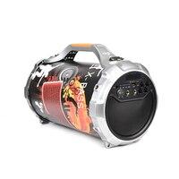 На открытом воздухе 24 Вт стерео сабвуферный микрофон с Блютуз Портативный Беспроводной громкоговоритель звук TF Встроенная Micphone низких час