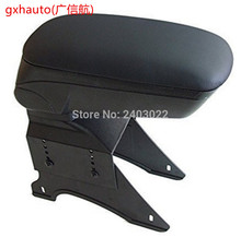 Free shipping in stock BIG STORAGE ARMREST BOX CENTER CONSOLE For UNIVERSAL fit for 2013 H0nd black color