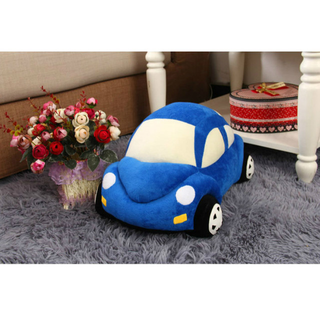Cute Kids Cars Model Stuffed Toys 5 Colors Children Peluche brinquedos for Gift Kawaii Car Shape Plush Cushion Pillow