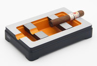COHIBA 2 Finger Removable Metal Cigar Ashtray Rectangle Cigarette Ash Tray Container Smoke Ash Holder