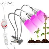 UV & IR Plant Grow Light 360 Degree Flexible Gooseneck for Indoor Plants ,Clip On, Desk Grow Lamp,LED Plant Growth Lights