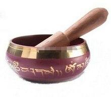 Copper Brass CHINESE crafts decoration Asian  Tibetan Crafted Gold Gilt wonderful Chakra Singing Bowl Meditation