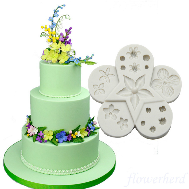 Clay Cake Flower Molding#9 Sugarcraft Mould Mold  for sugar cake,Cupcake