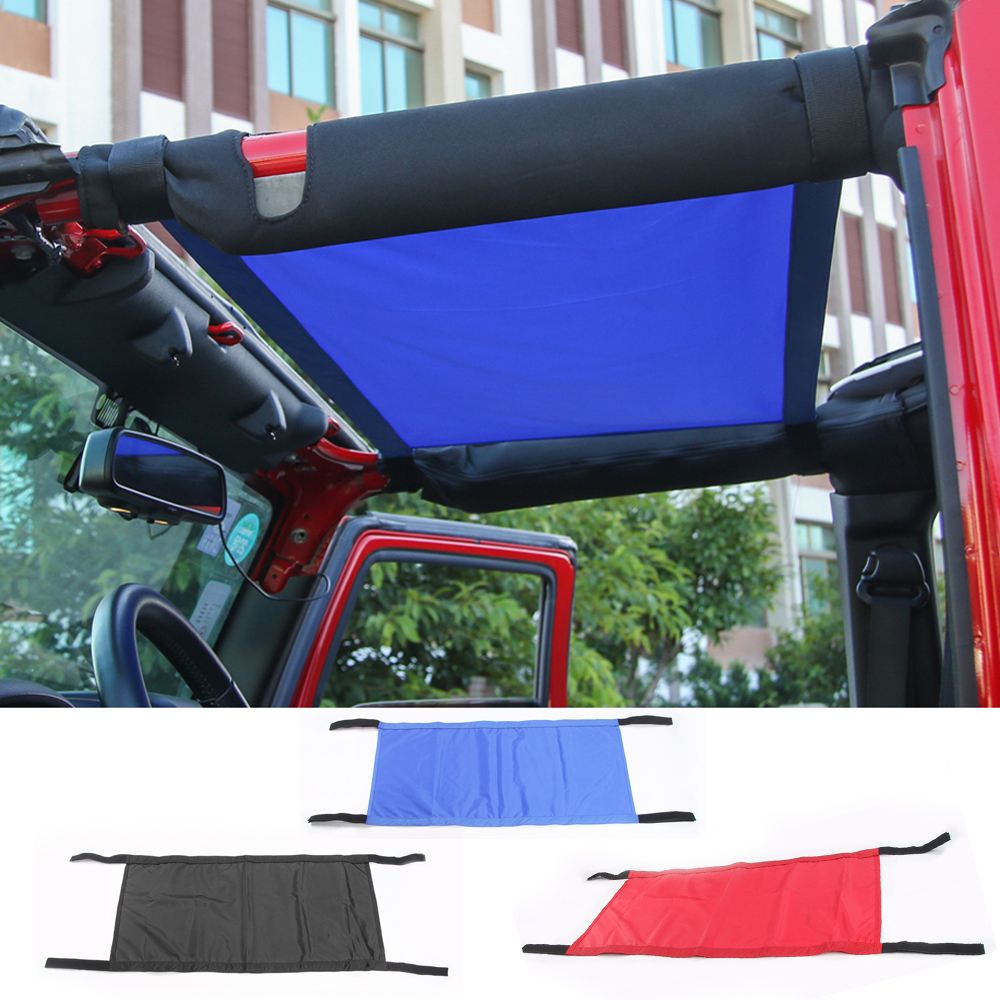 Red Blue Black New Style Car Roof Hammock For Jeep Wrangler 2007 2016 Car Styling Accessories