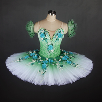 Dance Favourite New Green Women & Girl Performance Customer Size Made Ballet Tutu Ballerina Dance tutu Classical pancake tutu