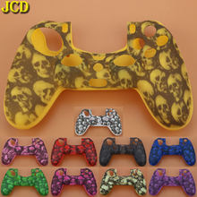 JCD 1pcs Skull Soft Silicone Rubber Protective Case Cover For Sony PlayStation Dualshock 4 PS4 for PS4 Pro Slim Controller(China)