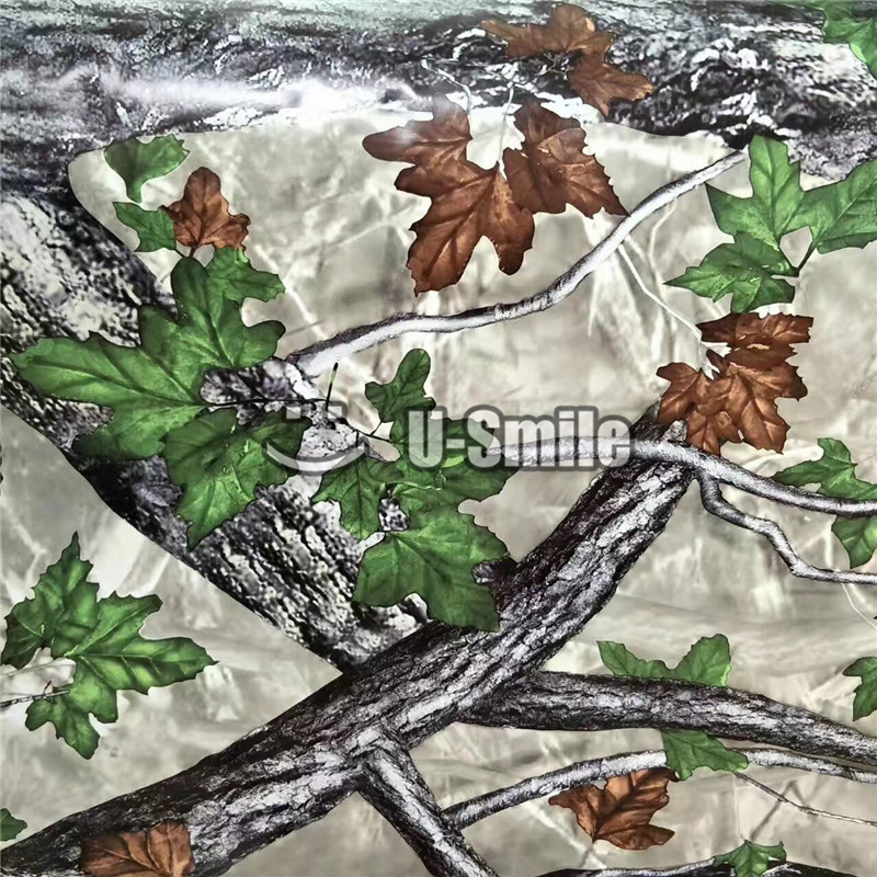 US $175 0 20% OFF|Green Leaf Realtree Camo Vinyl Car Wrap Film Decal Bubble  Free For JEEP TRUCK-in Car Stickers from Automobiles & Motorcycles on