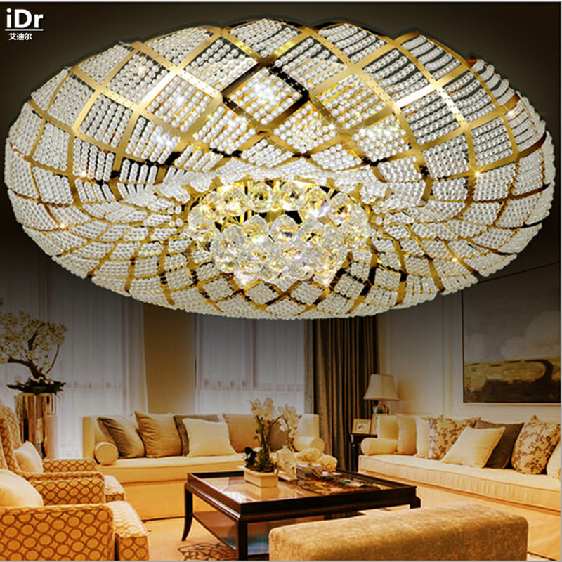 Golden Nest luxury high quality modern living room circular bedroom upscale restaurant LED Luxury lamp Ceiling Lights Dia800mm luxury lamp led crystal smoke gray living room restaurant bedroom modern low voltage lights circular fashion ceiling lights