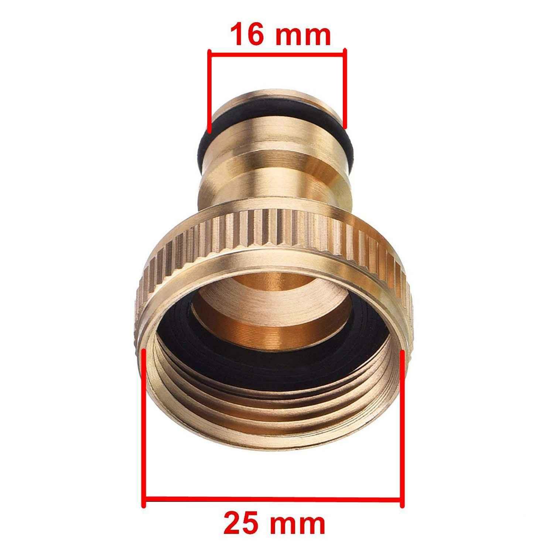 Yeni 2 paket 3/4 inç bahçe hortumu musluk bağlantısı pirinç bahçe hortumu boru musluk bağlantısı dişli musluk adaptörü İngiltere açık musluklar.