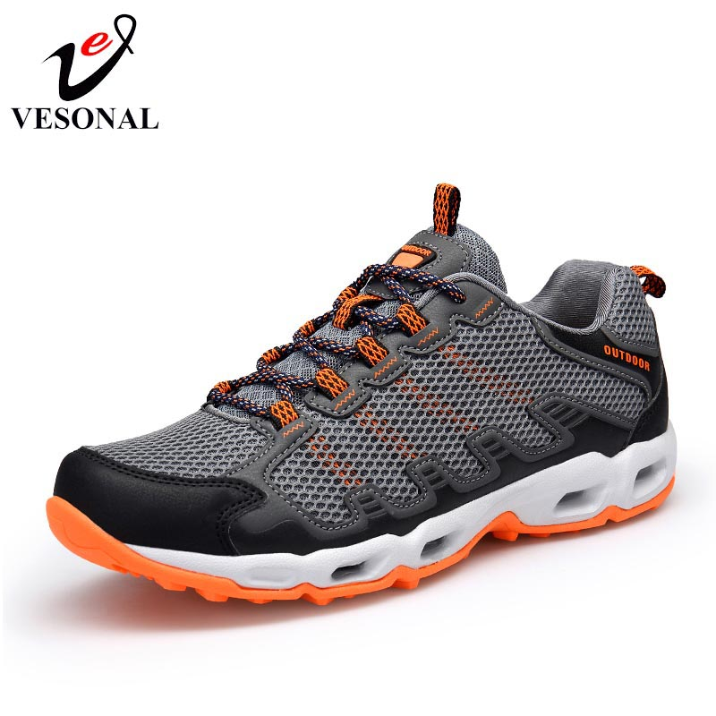 VESONAL Unisex Breathable Light Mesh Patchwork Men Shoes Casual Sneakers Couples Male Water Walking Footwear Summer