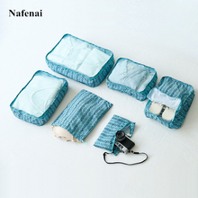 6 PCS Travel Storage Bag Set For Clothes Tidy Organizer Portable Suitcase Pouch Case Shoes Packing Cube