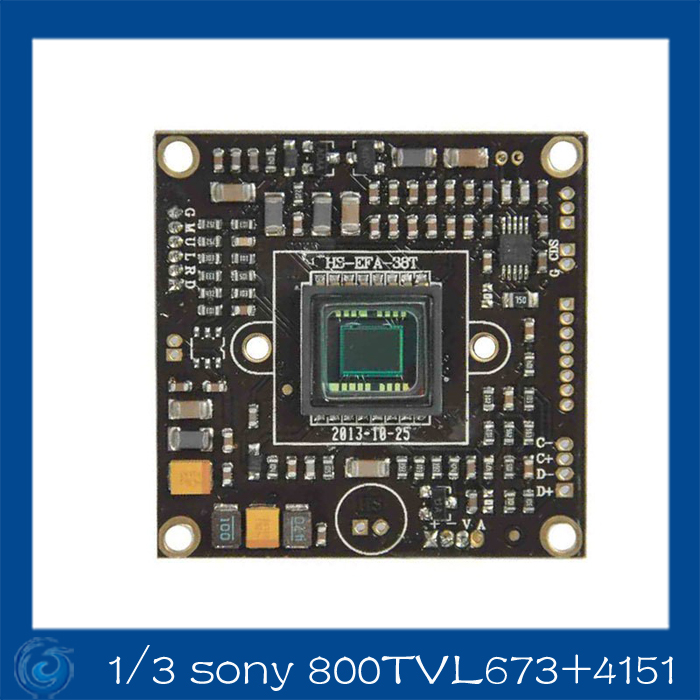 1/3 Sony Effio-A 800TVL CCD camera ccd board.673+4151