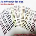 2019 HEIßER fisch augen 3D angeln locken augen mix mehr farbe größe 3mm 6mm fly fisch augen menge: 4 papiere insgesamt 732 teile/los-in Angelköder aus Sport und Unterhaltung bei
