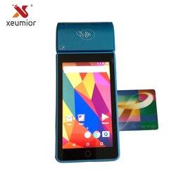 Xeumior z systemem Android 7.0 4G komórkowy GPS ręczny terminal płatniczy z drukarką i skaner kodów kreskowych czytnik kart magnetycznych SM-V2