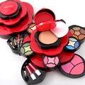 Mais recente Cores Ricas Maquiagem Kit Profissional Blush Delineador Coleção Batom MakeUp Palette Coleção Para Presente 2 Opções