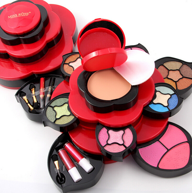 Newest Professional Rich Colors Make Up Kit Blush Eyeliner Lipstick Collection MakeUp Palette Collection For Gift 2 Options