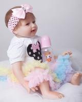 Soft Body Silicone Reborn Baby Doll Toy 55cm