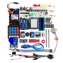 Free Shipping NEW! Funduino upgraded version for arduino kit UNO r3 development board kit containing membrane keypad
