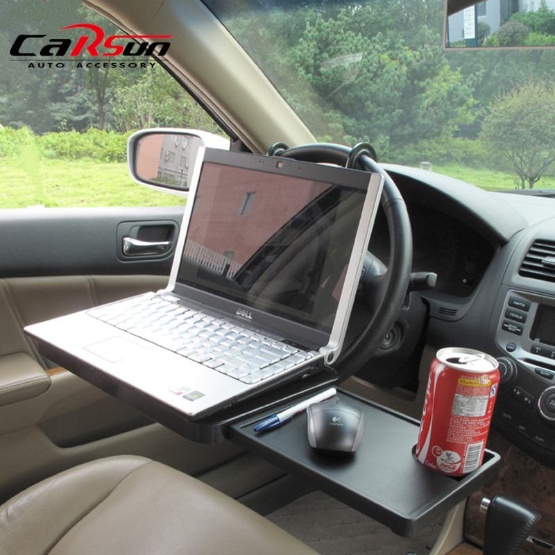 Car Laptop Stand Foldable Portable FoldableCar Seat Steering Wheel Laptop Notbook Tray Table Food drink Holder