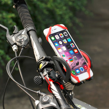 Universal Bike Bicycle Motorcycle Handlebar Mount Holder Mobile Cell Phone Holder With Silicone Support For iphone6s SmartPhone