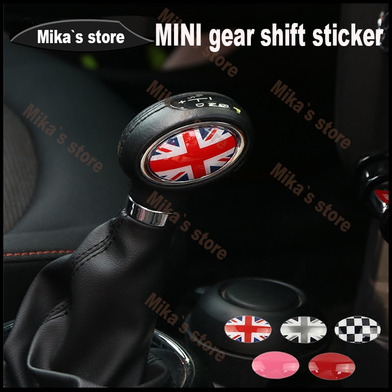 2pcs Car Gear Shift Knob ABS Stickers For Mini Cooper F54 F55 F56 F60 Car-styling Accessories gear shift sticker car styling фигурка funko pop games sonic the hedgehog – shadow 9 5 см