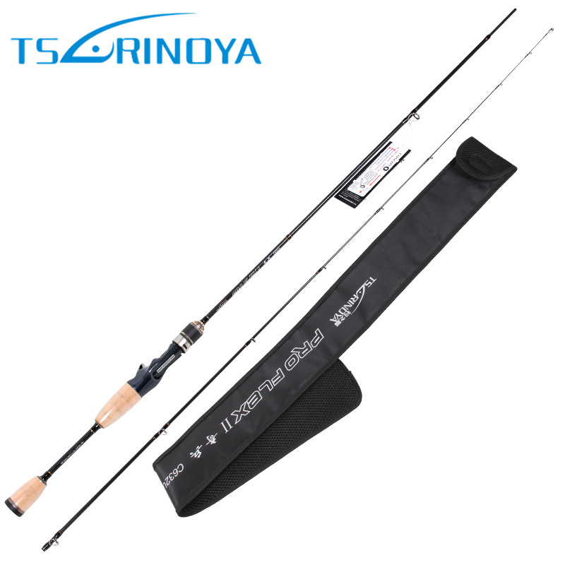 Tsurinoya 1.89m UL Baitcasting Fishing <font><b>Rod</b></font> <font><b>2</b></font> Sections 95g Carbon Lure <font><b>Rods</b></font> FUJI Accessories Action:Fast Pesca Stick Tackle