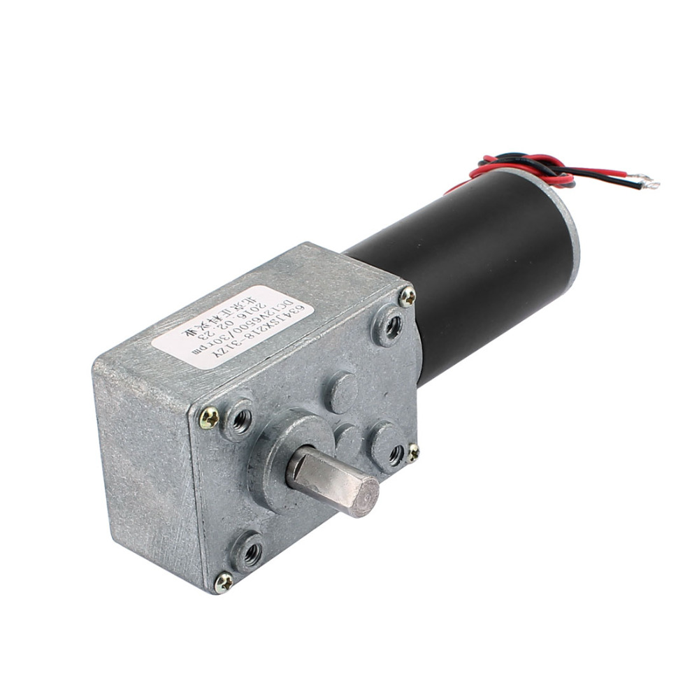 UXCELL DC 12V 30RPM 8mmx14mm D-Shape Shaft Turbo Worm Geared Motor Electric Power цена