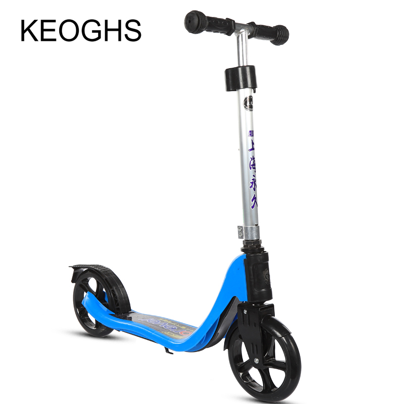 Купить с кэшбэком 2018 new model adult children kick scooter PU 2wheels bodybuilding all aluminum youngster absorption urban campus transportation
