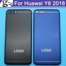 2 шт., Крышка батарейного отсека для Huawei Y6 2018, Крышка батарейного отсека для камеры HuaweiY6 2018, Крышка батарейного отсека с логотипом для Honor