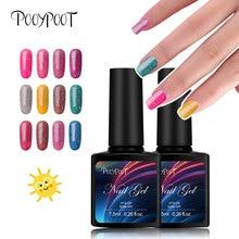 Pooypoot Gel Nagellak Bling Neon Colors Hybride Gelverven Soak-off UV LED Glitter Glanzende Gellak Nail Art Primer Gellak