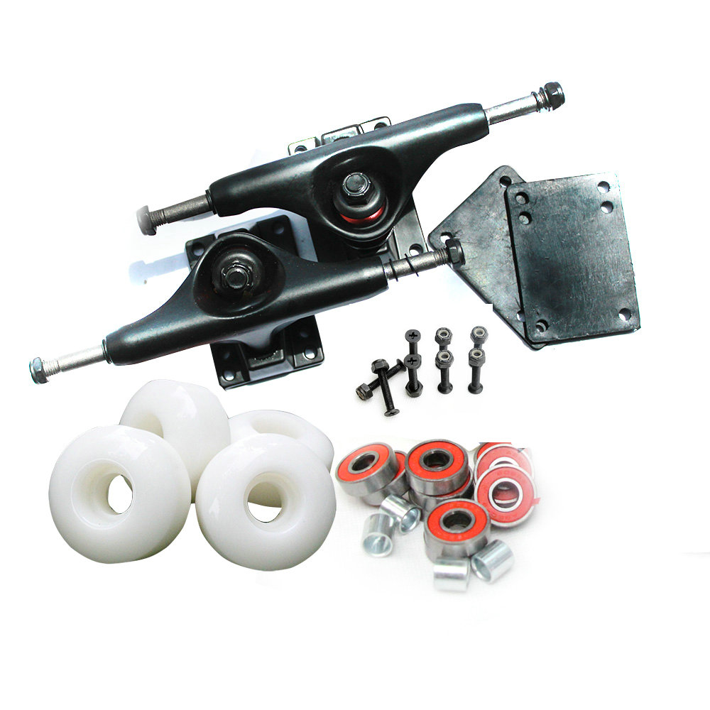 Pro Skateboards Complete Element Aluminum 5inch Skateboard Trucks And PU Skate Wheels Rodas ELEMENT ABEC-9 Bearings