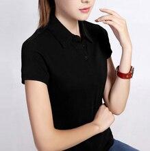 plain black polo shirt polos shirt women short sleeve polos manga larga mujer camisas femininas 2016 camicia donna