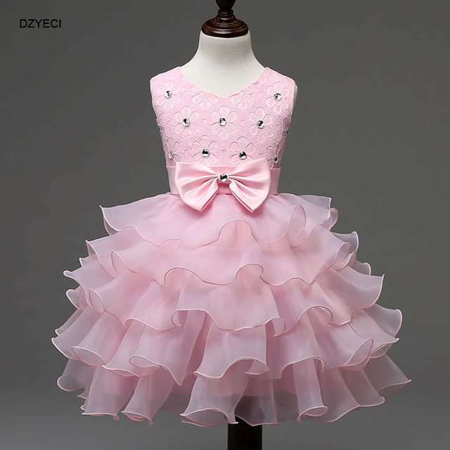 Christmas Costume For Baby Girl Wedding Party Dress Up New Year Infant  Toddler Bow Diamond Lace Ball Gown Sophia Princess Dress 34a477559d6a