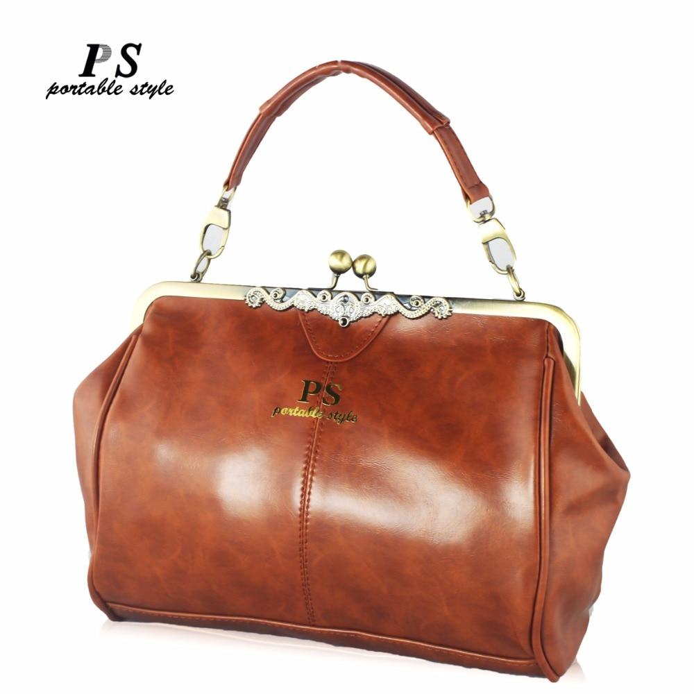 Nuevo cuero Casual mujer bolsos Vintage Hotsale señoras pequeñas compras moda bolso hombro Messenger Crossbody bolsos marca