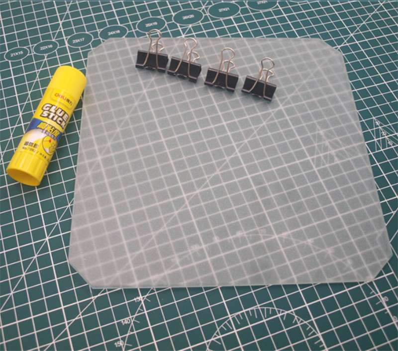 3D Printer Platform Printing Polish Mat Tempered Glass Plate Glue Stock Bulldog Clip For Anet A8/Wanhao/Monoprice 3D Printer
