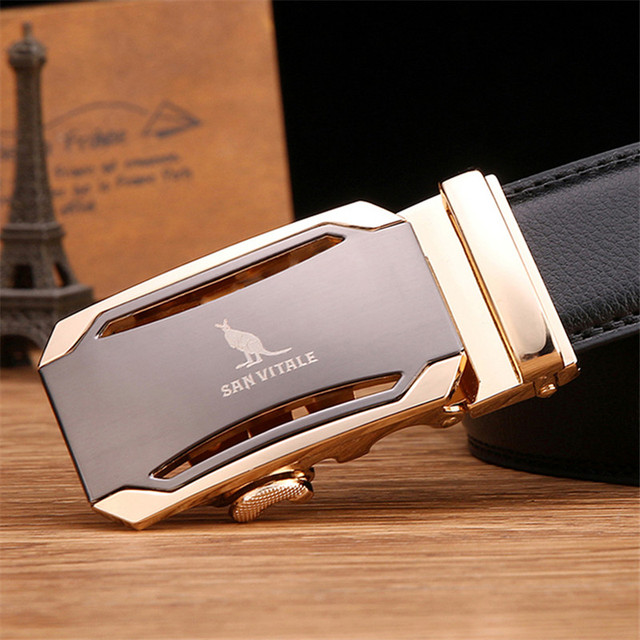 Mens fashion Belt 2017 New Designer Automatic Buckle Cowhide Leather men belt 110cm-130cm Luxury belts for male free shipping