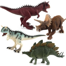 Jurassic Dinosaurs Models Plastic Animal Action Figures Toys Carnotaurus Stegosaurus Triceratops Collection Gifts #E(China)