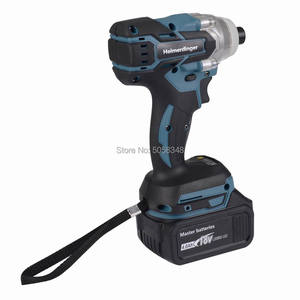 Image 3 - Electric Rechargeable 6.35mm 1/4 inch cordless brushless impact driver drill with two 18V 4.0Ah Lithium Battery