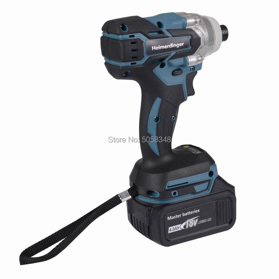 Image 2 - Electric Rechargeable cordless brushless impact driver drill with one 18V 4.0Ah Lithium Battery-in Electric Drills from Tools on