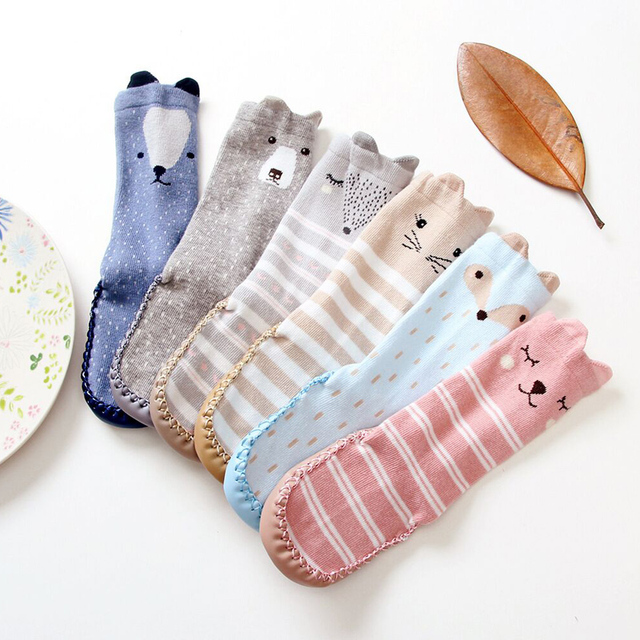 Animal Socks With Rubber Soles