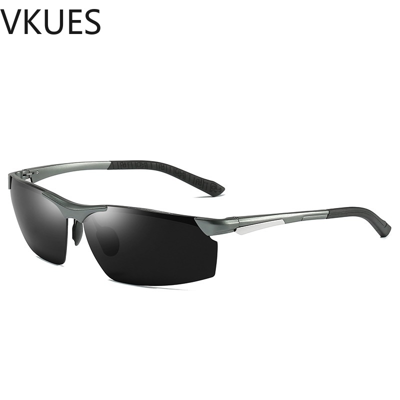 1dc1ea91f Barato VKUES Polarizada Óculos De Sol Dos Homens de Alumínio E Magnésio  Óculos de Sol Do