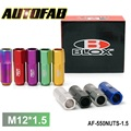 AUTOFAB -Racing Blox Forged 7075 Aluminum Lug Nuts P: 1.5MM L:60MM 20 Pcs/Set AF-550NUTS-1.5