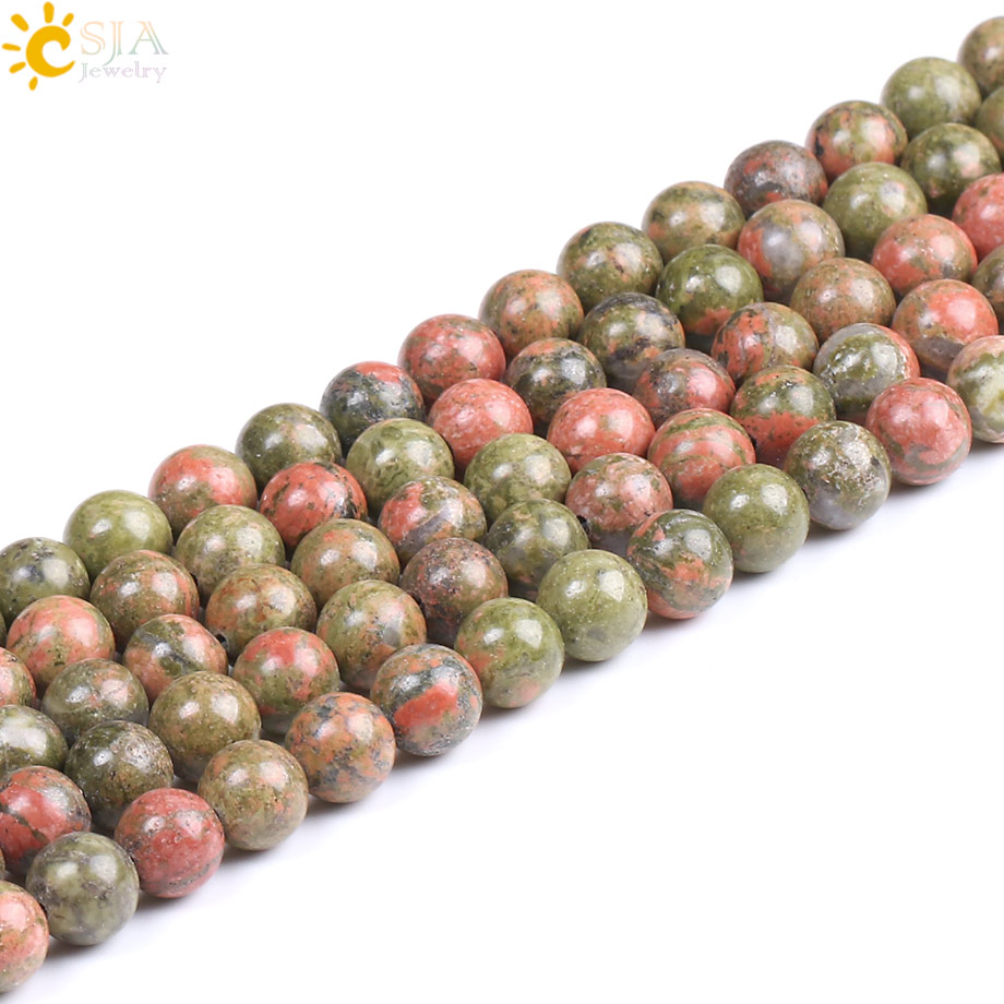 gemstone il listing unakite round photo ssxf stone fullxfull beads gallery natural