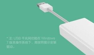 Image 2 - Xiao mi orijinal mi USB3.0 Gigabit Ethernet çoklu adaptör USB RJ45 ağ kablosu arabirim yüksek hızlı USB Splitter dizüstü