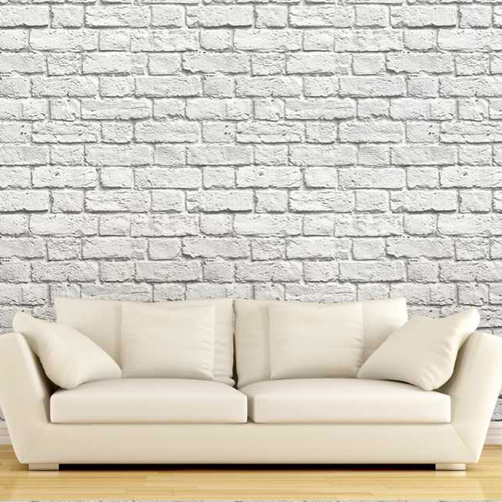 Rustic Brick Grey Wall Livingroom Background 3d Wallpaper Mural Photowall Papel De Pared Room Decoration FLC49001 In Wallpapers From Home