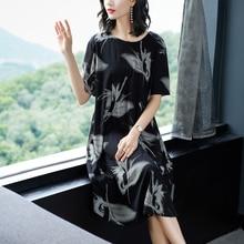 YICIYA Short Black Dress Women Plus Size Xxl Xxxl 4xl Elegant Vintage Robe Loose Print Floral 2019 Summer Clothing Vestidos