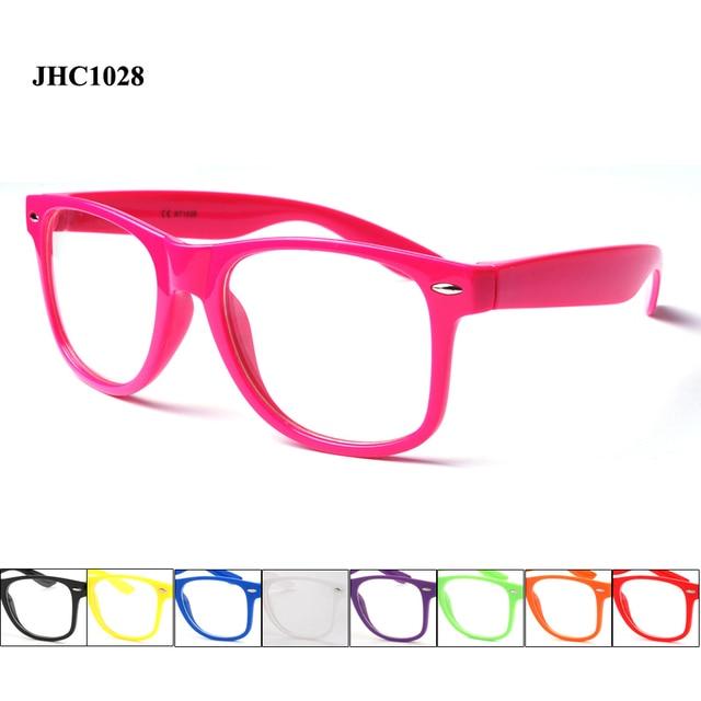 382b430c6ca22 Pas cher en plastique cadre lentille claire lunettes de soleil femmes et  hommes avec différentes couleurs