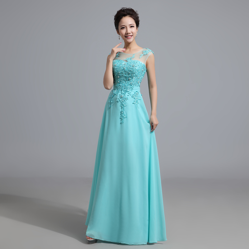 Popular ice blue bridesmaid dresses buy cheap ice blue for Aqua blue dress for wedding